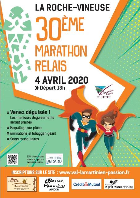 Affiche 30ème marathon relais 2020 Val Lamartinien Passion